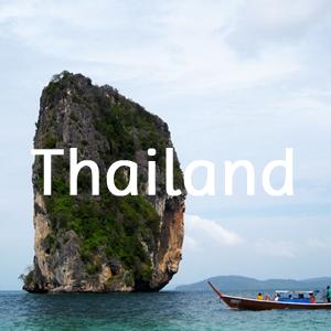 bestemmingen thailand